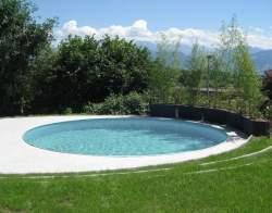 Future-Pool Stahlwandbecken in grau